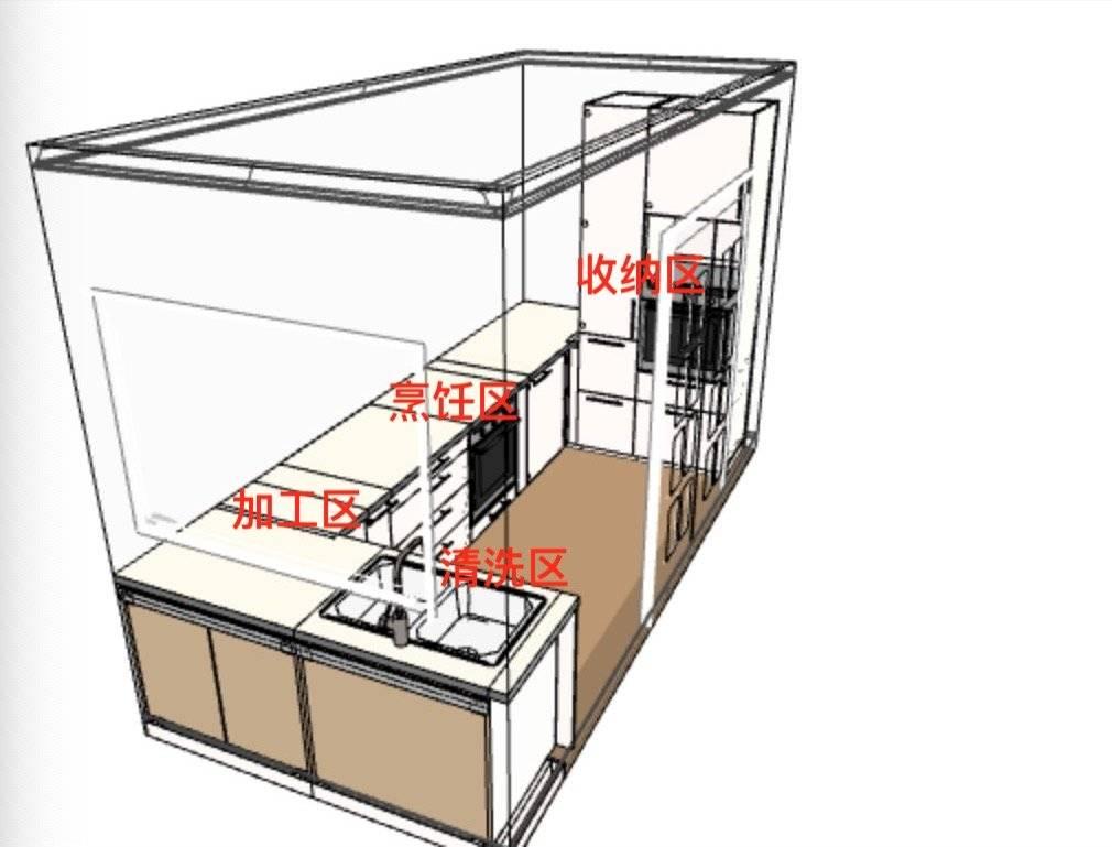 五十平米的小房子进门左侧客厅和厨房相连卫生