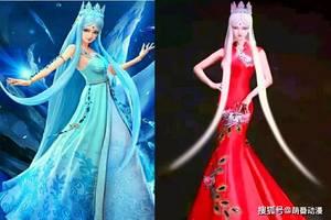 叶罗丽:当仙子们穿上美丽的婚纱后,冰公主宛如模特,王默超惊艳图片