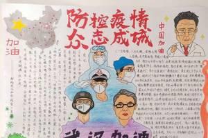 共抗疫情 爱国力行——锡林浩特六中高二级部手抄报展示