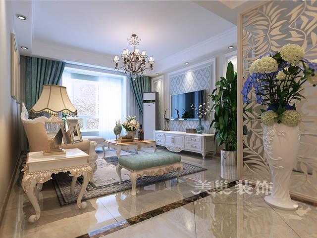 南阳新婚婚房装修效果图欧式135平——入户鞋柜,成品欧式鞋柜,墙面用