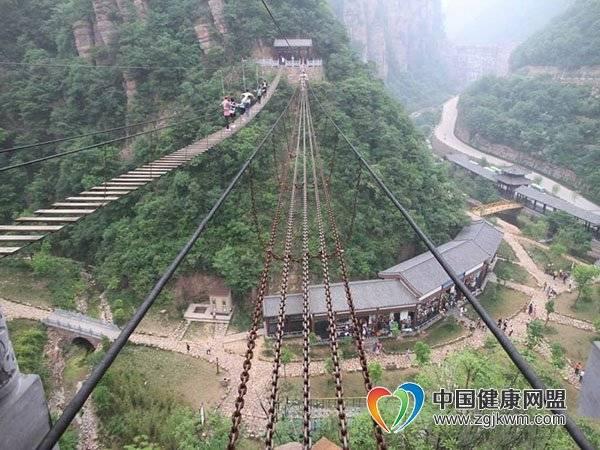 洛阳新安县龙潭大峡谷景区旅游攻略-高空钢索桥!