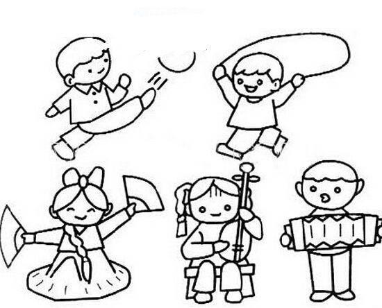 儿童简笔画:气球糖果游戏等,孩子喜欢的都在这了图片