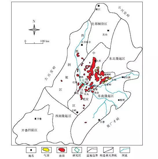 油气田,其中较为知名的有大庆油田和吉林油田.图片