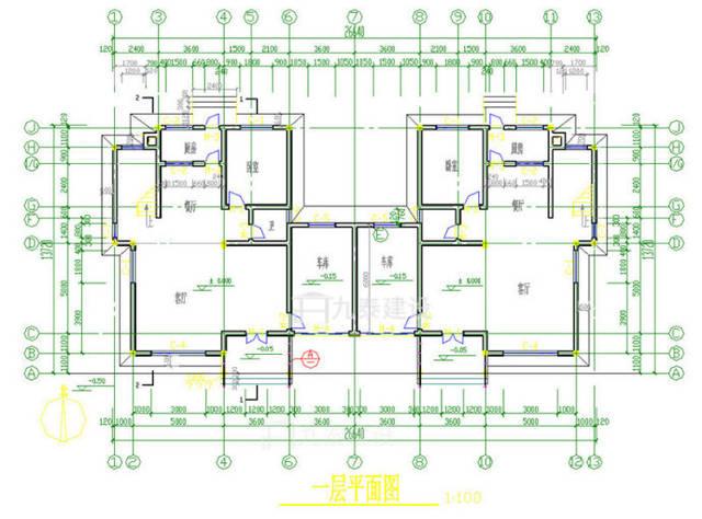 7.5米8米自建房平面图