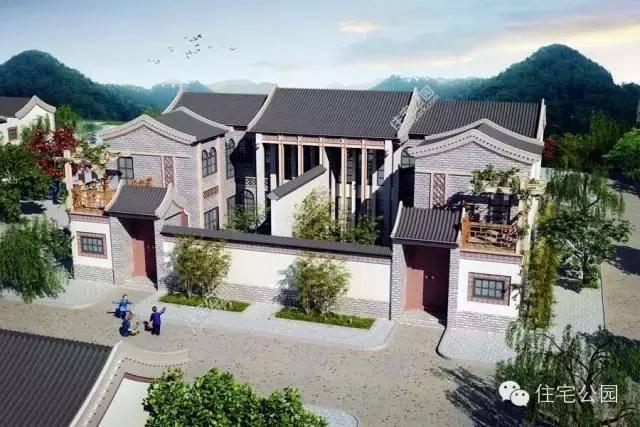 2米,单拼占地面积130平方米,这样的宅基地在农村还是比较好批下来的.图片