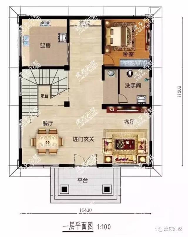 4×11.8米四层农村别墅,建成村里地标式的建筑图片