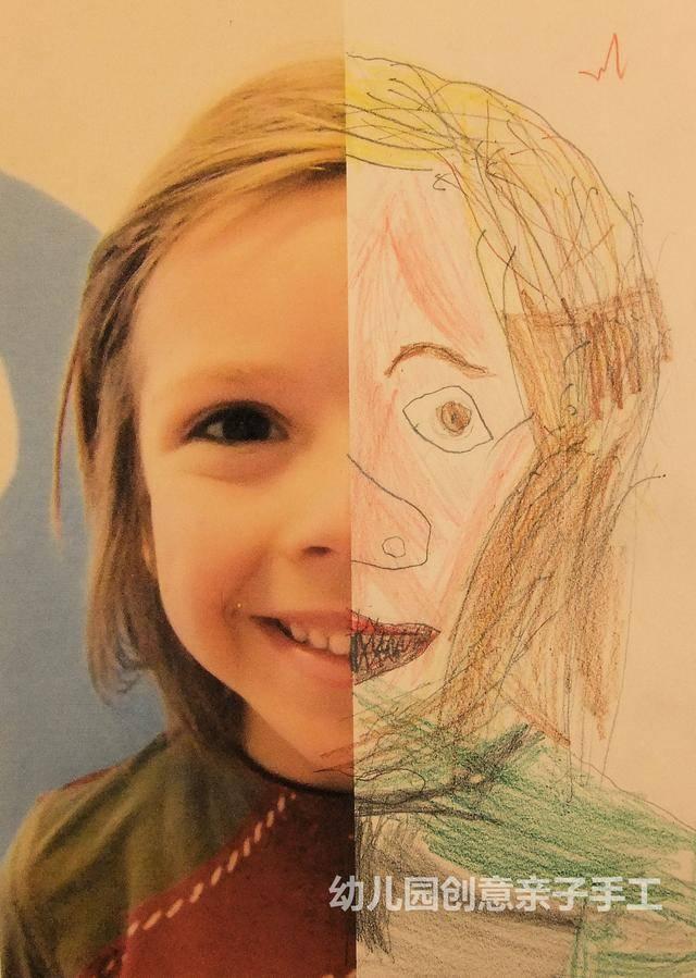 五官的自画像,画出儿童漫画,你看我还美?特征春游孩子图片