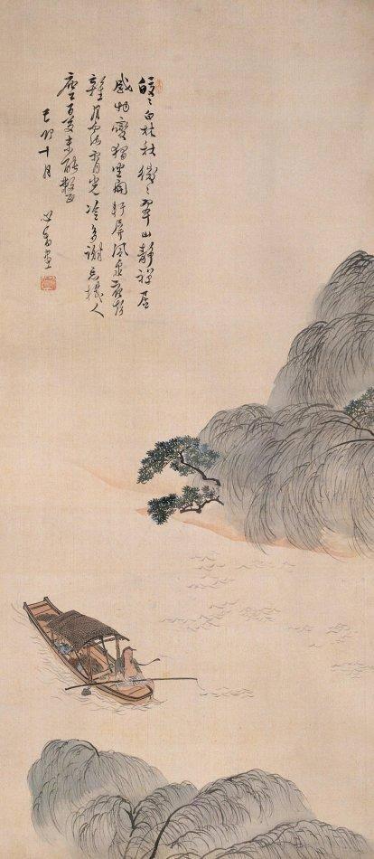 书法,绘画与张大千齐名,中国书画家溥儒作品欣赏图片