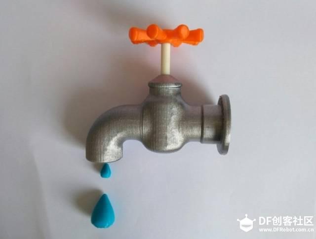 水龙头结构件模型是从网上下载的模型,含有龙头,手臂,连杆,水滴四