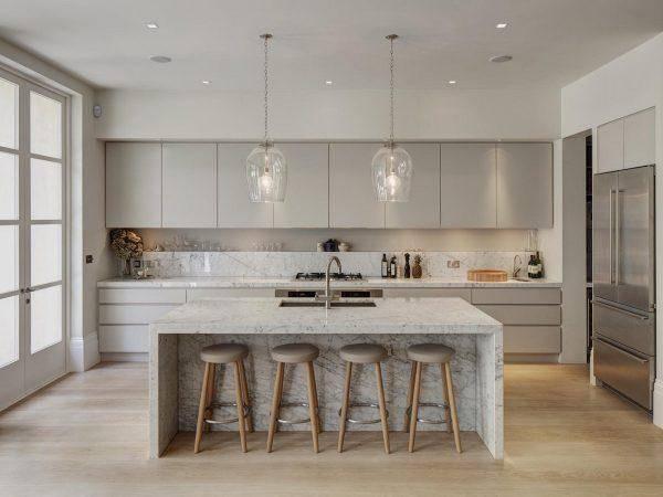 厨房设计必须要有个性,8款大理石厨房,美