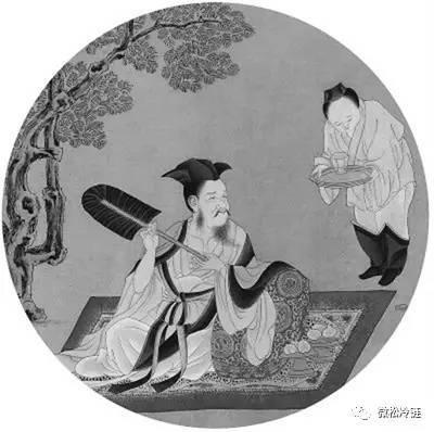 手繪古代蓮花臺