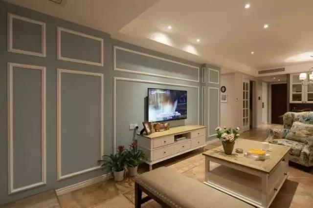 美式风格三居室,闲庭信步,与春天不期而遇!图片