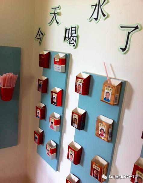 幼儿园环创主题墙:喝水记录区,每天给身体补充水分,宝宝更健康