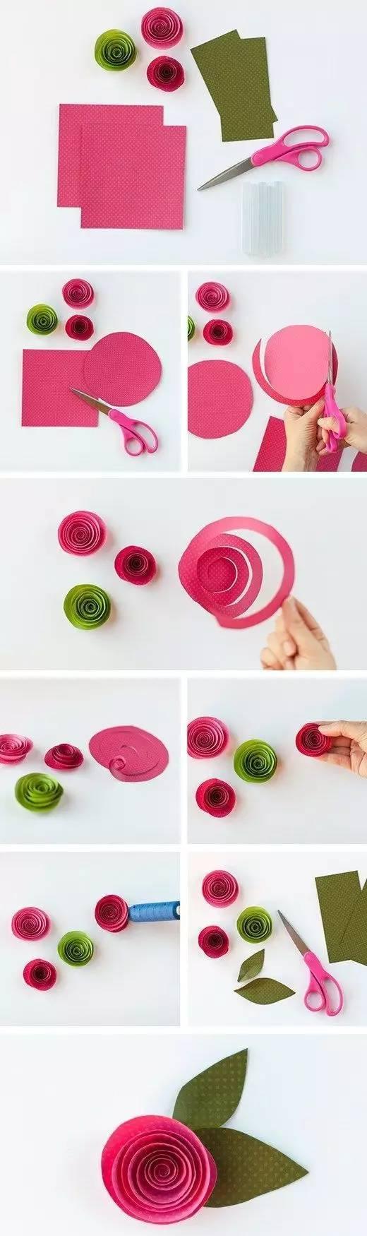 简单的玫瑰花手工制作