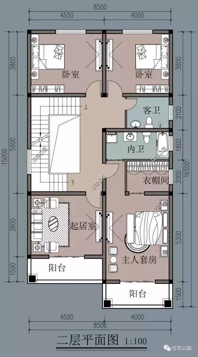8x16米农村小户型,4层设计最适合农村,比城里别墅还好看!