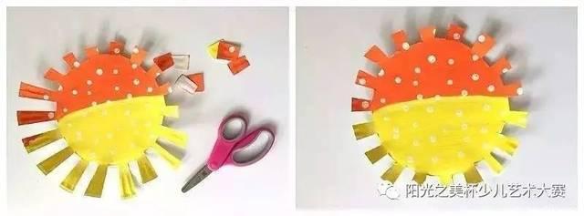 不同颜色的卡纸,剪刀,棉签,画笔,胶水.