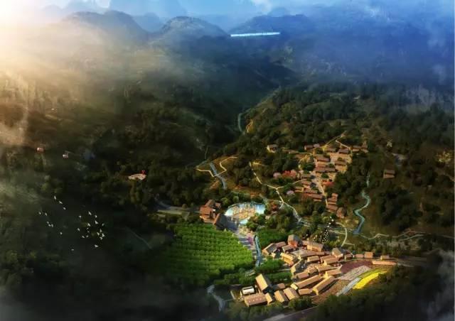 对村庄进行整体规划, 将村庄打造成一个集民宿,美食,有机农业 为一体图片