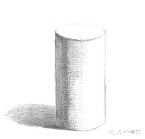 素描入门教系列程:素描几何体圆柱体的画法步骤