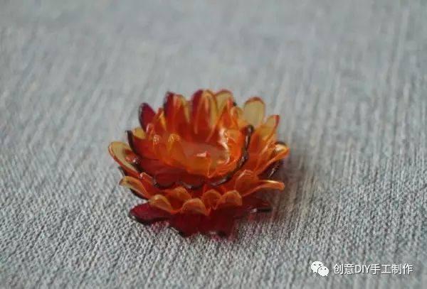 塑料瓶diy菊花塑料花飾品手工制作教程圖片