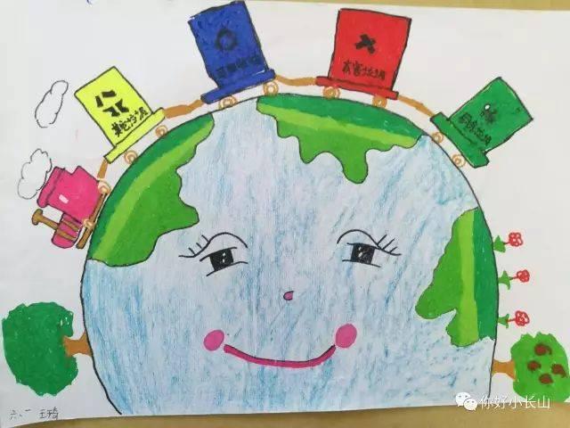 """小长山:""""垃圾分类我先行""""主题作品展——小学绘画作品"""