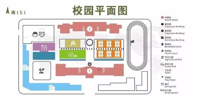 校园平面图如下