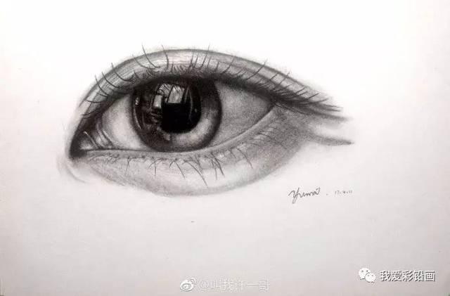 【素描】一支笔画眼睛(视频 步骤图)