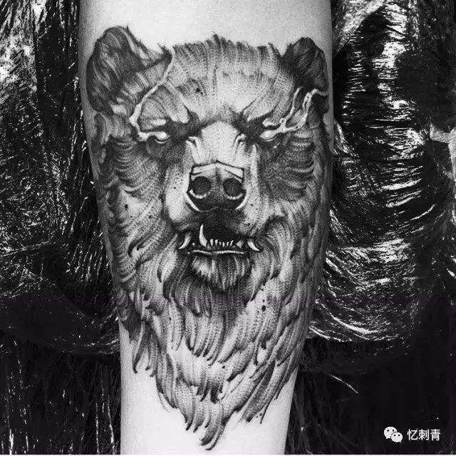 熊的纹身图片大全 满背熊纹身
