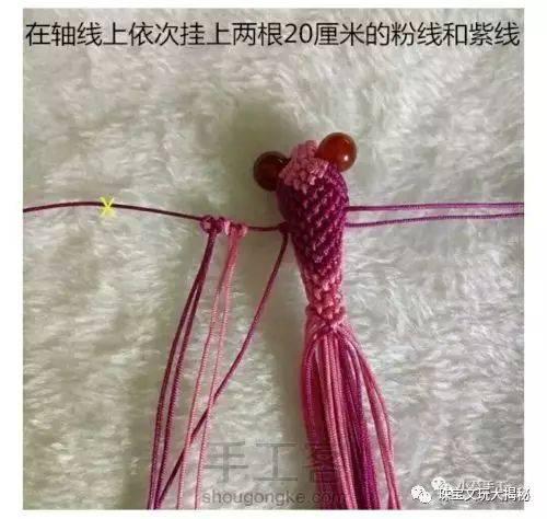 【编织】手工编绳卡通动物之金鱼挂饰教程