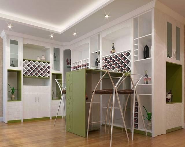 家用转角酒柜设计效果图大全