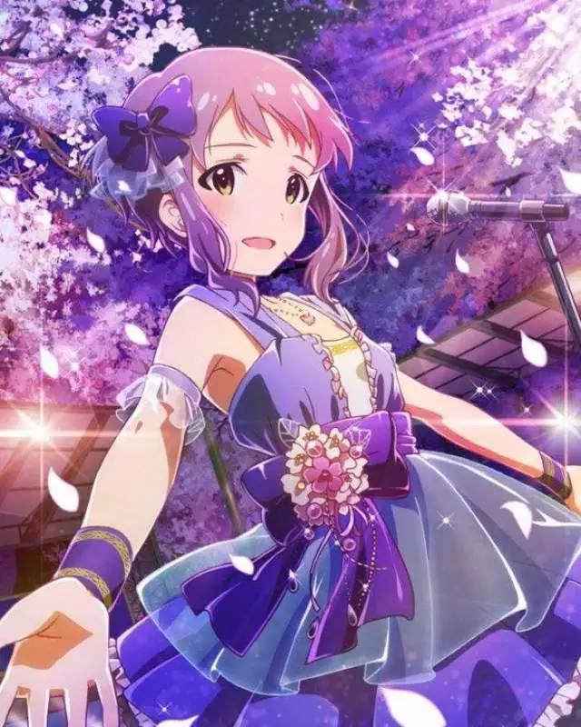 动漫美少女图片大全要紫色头发 紫头发的女生动漫人物图片
