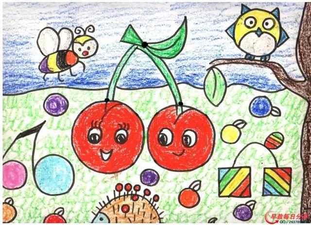 蜡笔画!美术课必备范画,小朋友的作品太漂亮了