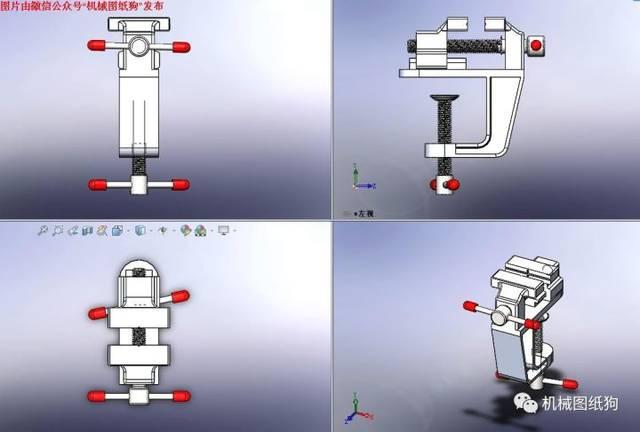 【工程机械】25d迷你虎钳模型3d图纸 solidworks设计