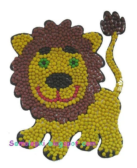 种子粘贴画_孩子一学就会的种子粘贴画和树叶粘贴画,材料简单,创意丰富!