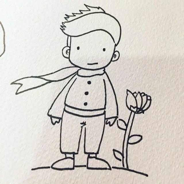 【stella教你画卡通】愿每个人心中都有一个小王子图片