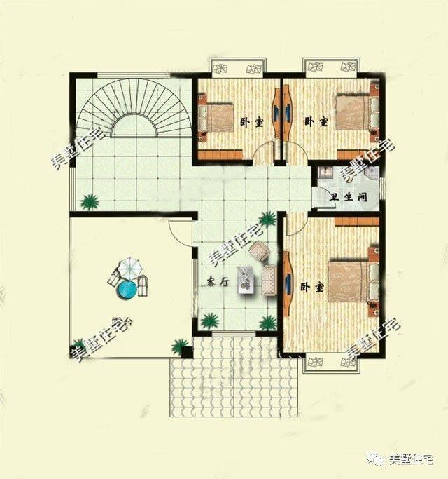 67平方米 结构类型:框架结构 ps:看完这套农村别墅,是不是很想回农村图片