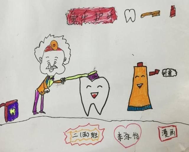 课后,同学们还以展示手抄报,刷牙漫画,展示自己在家刷牙的图片等形