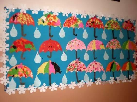 上述几款丰收感十足的主题墙,瓜果,谷物种类繁多,建议发动小朋友们图片