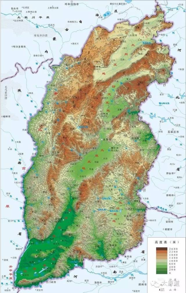 它的东部边界,是雄峻的八百里太行山脉,成为黄土高原与华北平原的分