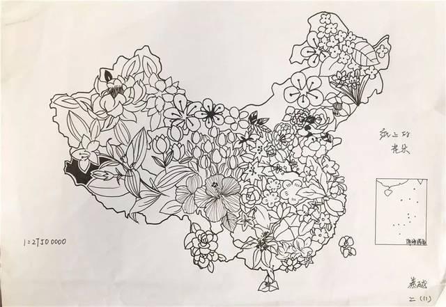辅仁看点丨太有才了,辅仁学子创意手绘中国地图献礼国庆