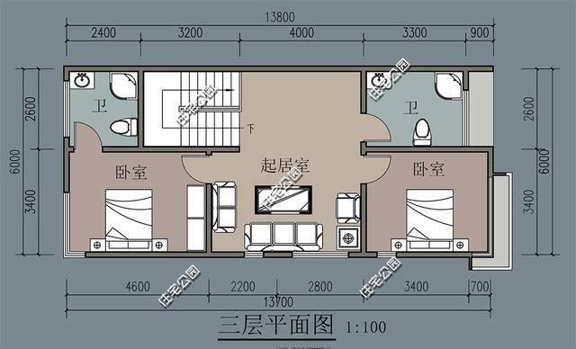 微信公众号:住宅公园,500套农村自建房图纸,农村别墅定制设计.