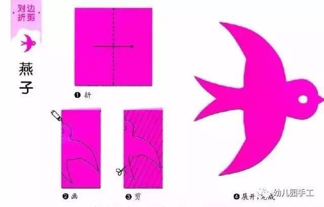 简单易学的幼儿园剪纸手工制作,幼师收藏!