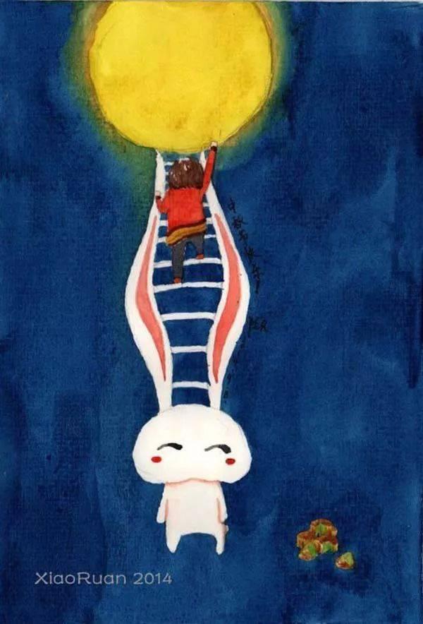 嫦娥的孤独或许只有玉兔和月亮能懂.