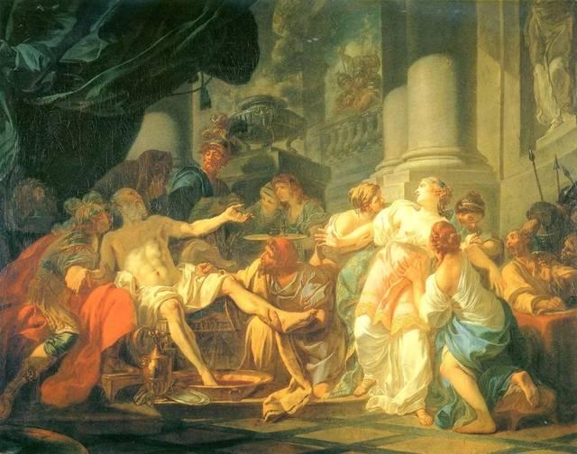 23岁的达维德第一次参加罗马奖考试,考题是智慧女神雅典娜与战神