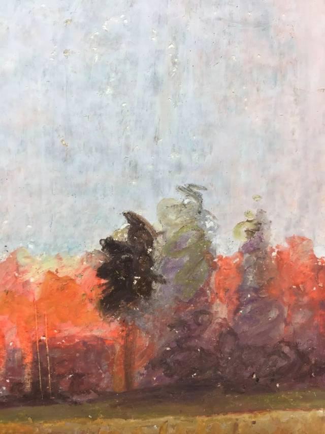 教程|用油畫棒臨摹俄羅斯風景畫