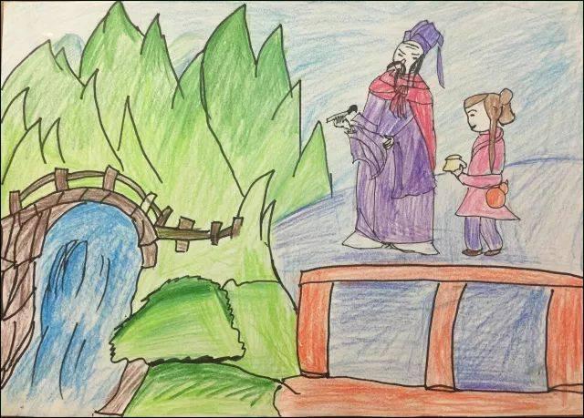 古诗江雪图片儿童画