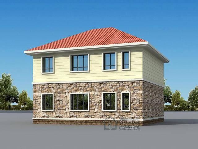 易盖房图纸:北京顺义二层农村别墅,颜值高,造价低,超实用