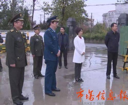 陕西省军区司令员调研潼关人民武