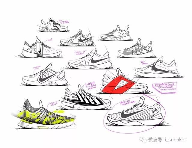 鞋设| nike耐克德马尔·德罗赞签名鞋设计图稿图片