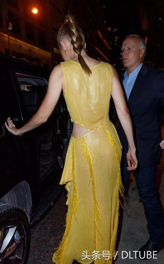 吻我把黄色电影网_超模gigi hadid出门参加电影首映式,她身穿黄色长裙非常耀眼!