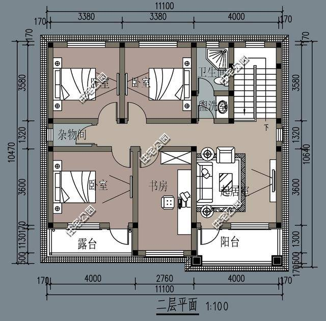 微信公众号:住宅公园,500套农村自建房图纸,乡村别墅私人定制.